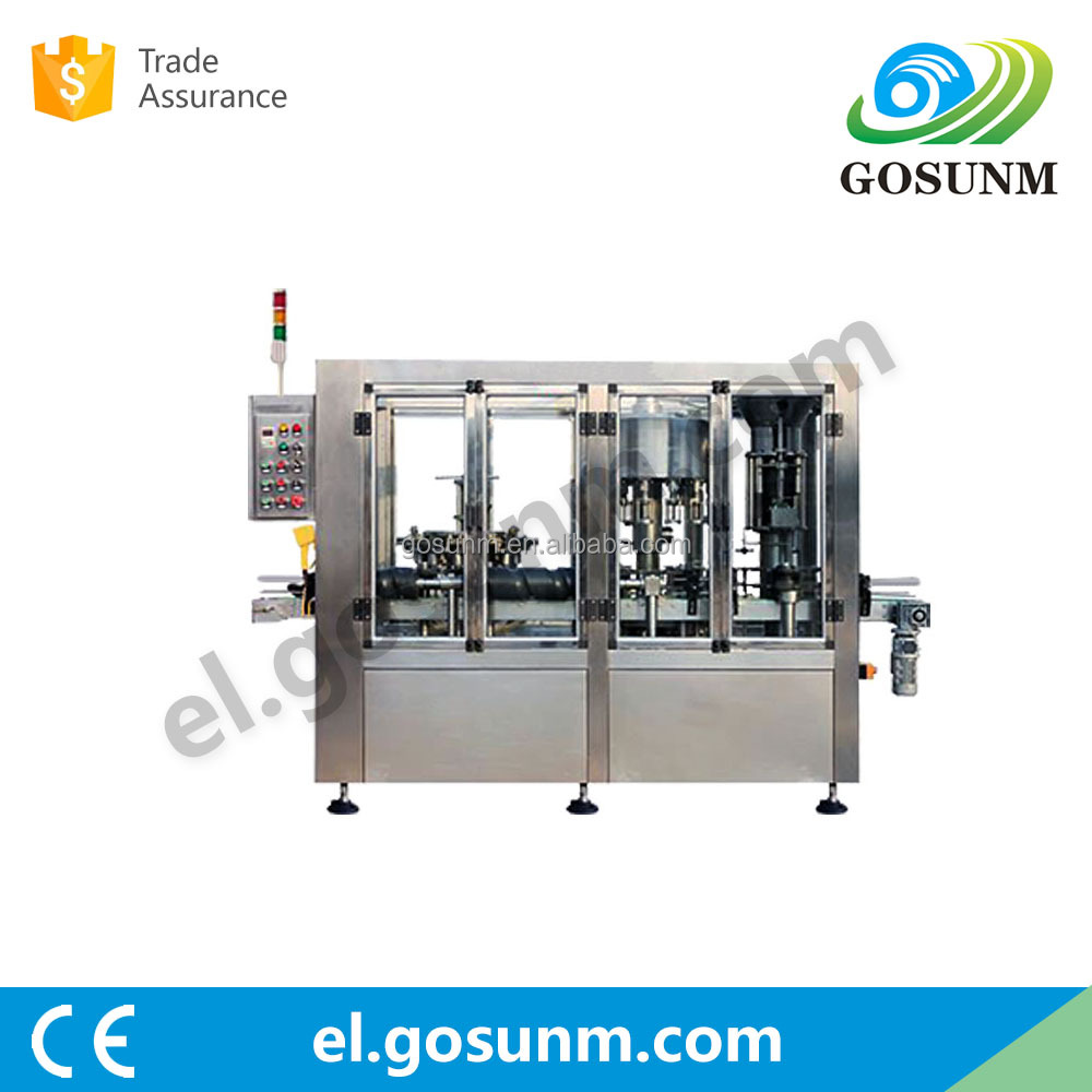 Bottle washing, Filling, corking 3 in 1 (negative pressure) fruit juice wine bottle corking machine GSQ-G-CGDQ-16A-12A-1A01