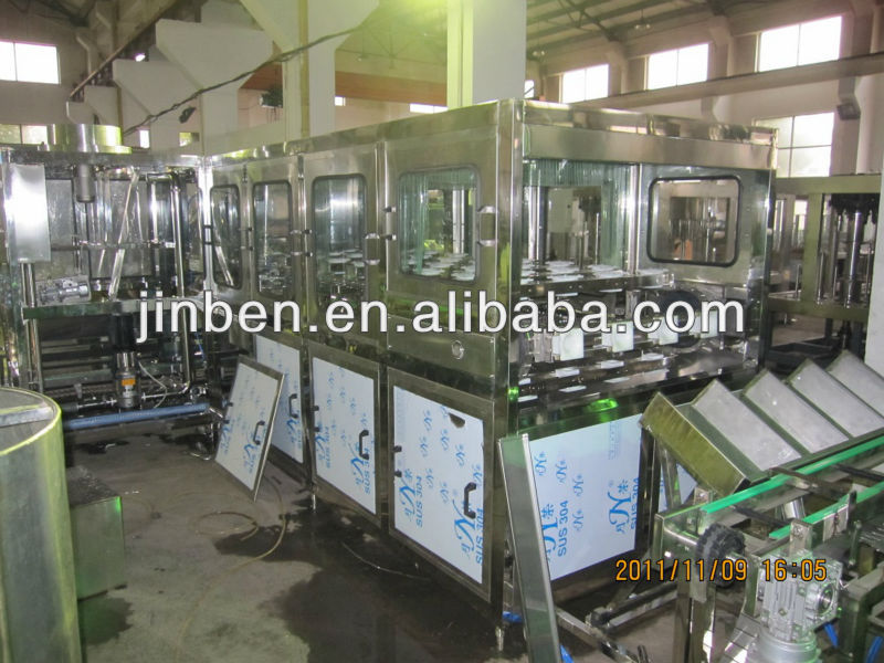 Complete water bottling line