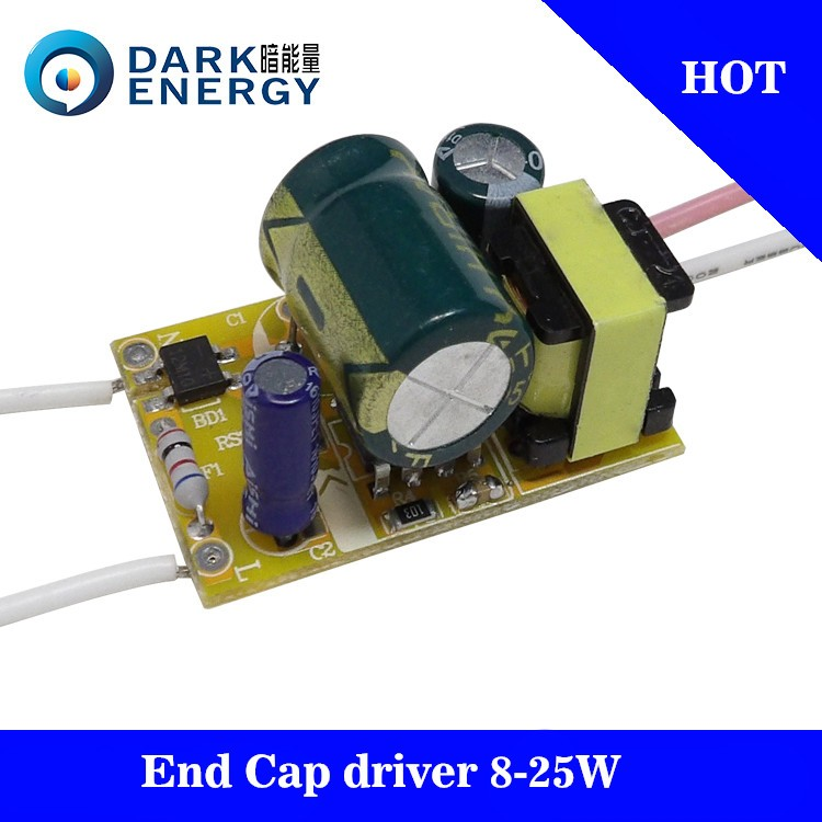 Non-isolated 8-25W built-in flicker free constant current LED driver supply