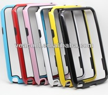 Double Colors TPU Bumper Frame Case Skin Cover for Samsung Galaxy Note 2 N7100 case