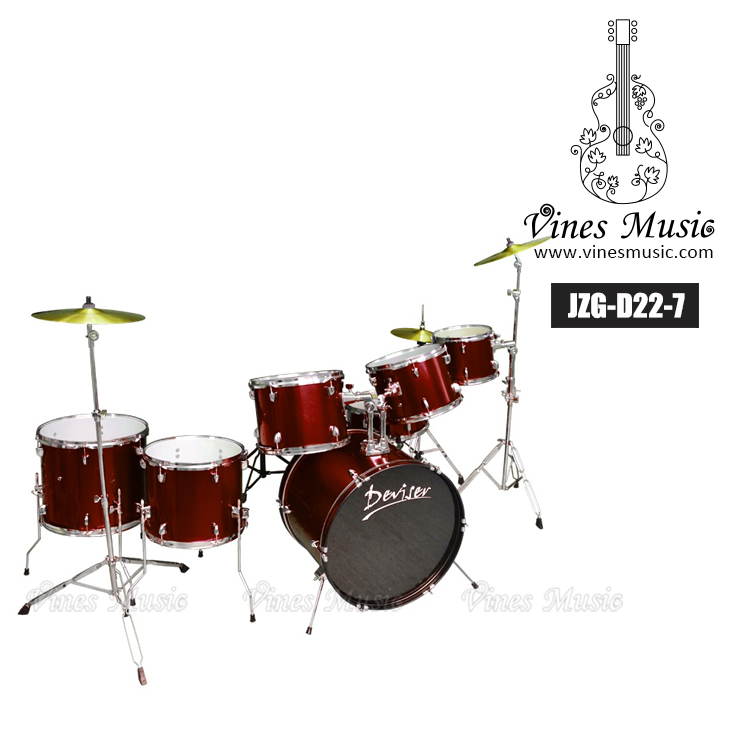 Professional 7 pc drum set in different colors