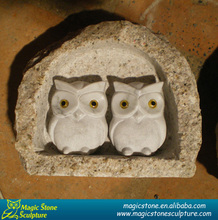 carving clear granite owl sculpture