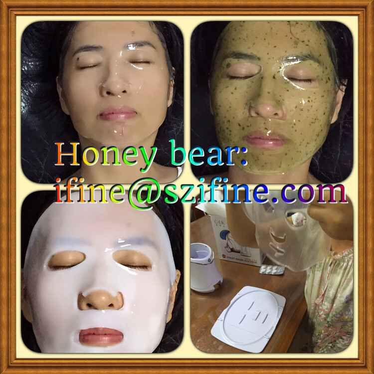 OEM fruit facial mask machine CE Rohs certificated mini mask maker  CUK  collagen powder DIY fresh mask anti wrinkle