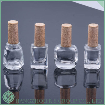 Cube nail polish glass bottle