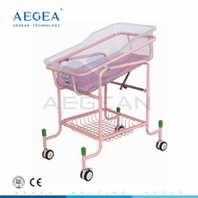 AG-CB010 CE approved colorful ABS material bed hospital portable baby cot