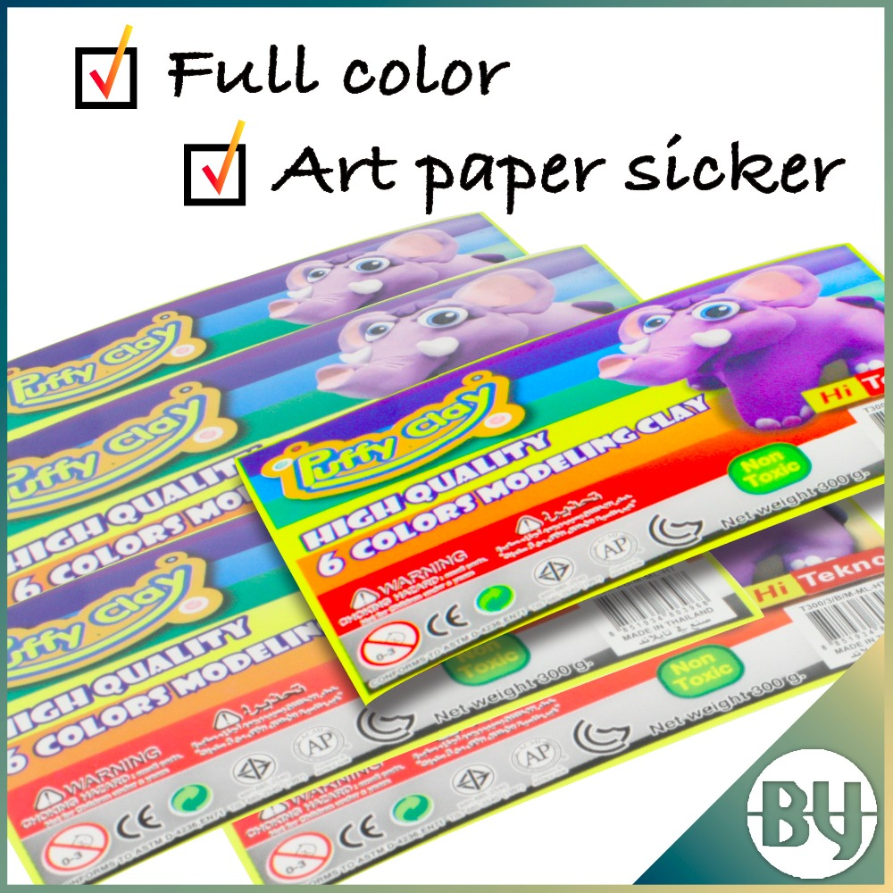 Cheap adhesive waterproof art paper color sicker for kids