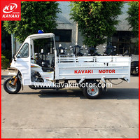 China Supplier KAVAKI Brand Automatic 200cc Closed Cabin 3 Wheel Motorcycle cargo adult tricycle with CCC