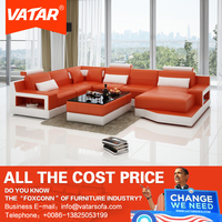 VATAR furniture glowing floral pattern fabric sofa for indian
