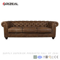ORIZEAL CHESTERFIELD LEATHER SOFA(OZ-MS6006L)