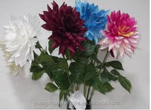 Whole sales decorative artificial dahlia flower made in China, artificial flower
