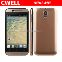 Mini M8 Android Smartphone 4.5 Inch MTK6572W Quad Core Dual SIM Card Smart Android 4.2 Mobile Phone Flashlight Auto Focus