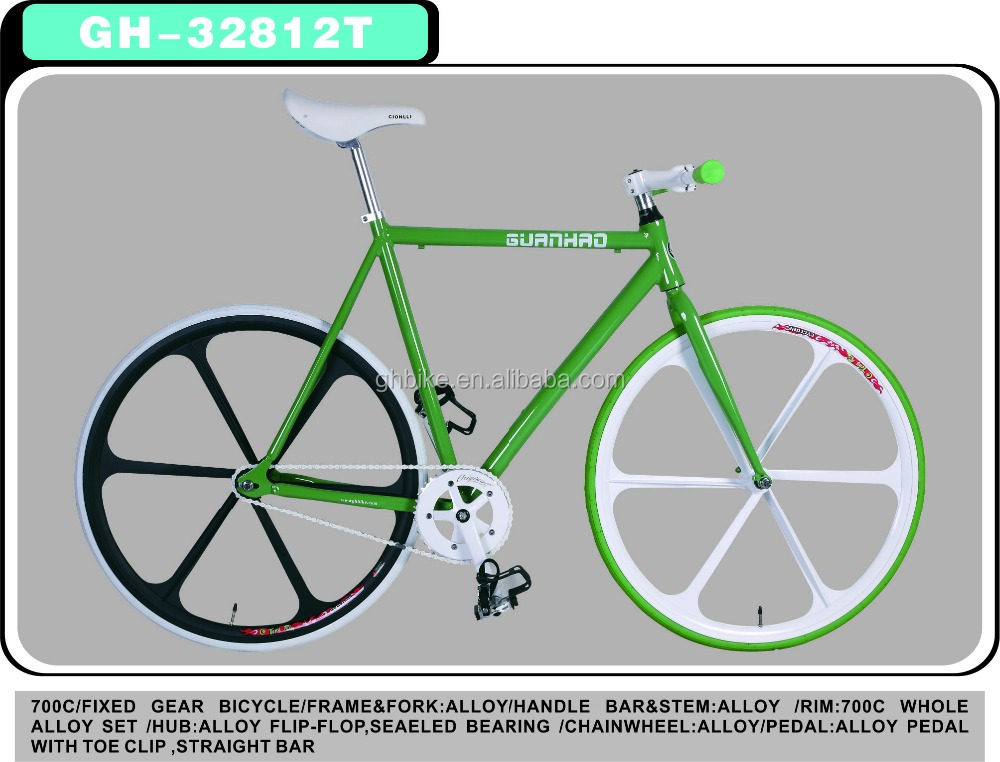 700C aluminium alloy fixed gear bike fixie bike bicycle factory