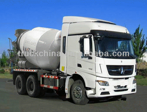 Using Mercedes benz Technology beiben concrete mixer truck(8-12m3)