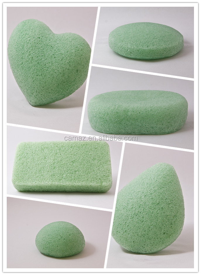 New design Pure White 100% Skin Care konjac sponge with factory price