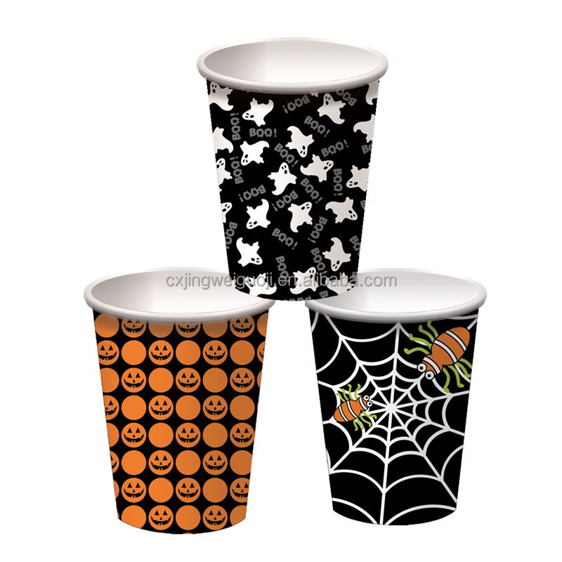 custom printed Halloween decorative paper cups