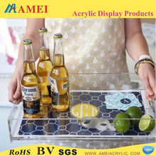Top quality custom acrylic lucite tray serving tray