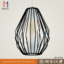 Loft Style Industrial Black Metal Cage Pendant Light E27 40W With Ce Rohs