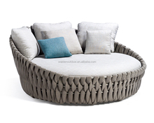 Hot sale outdoor round rattan daybed (DH-X1003)