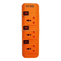 individual switch 3 way/3 gang Power strip/USB extension power socket outlet with surge protected extension power outlet