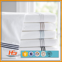Chinese white hand embroidery design bed sheet