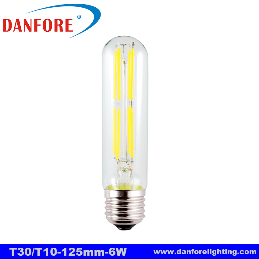 125mm short tubular T30 2W 3.5W 6W Dimmable led filament light bulb with E27 E26 base