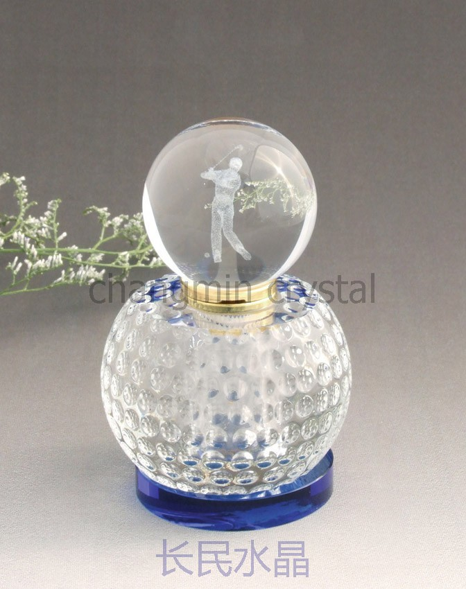 2015 crystal perfume.golf ball shaped perfume bottle