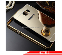 Aluminum metal mirror phone case for Samsung galaxy back cover bumper mobile case