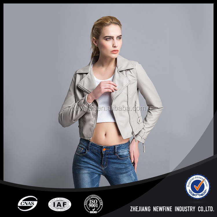 Oem Autumn Winter Sexy Promotion Cheap Sex Lady Pu Jacket