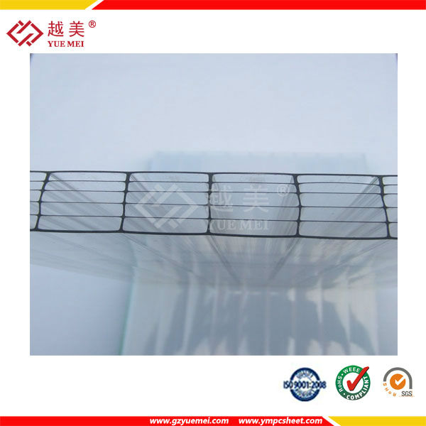 Makrolon multi UV multiwall 6 layers polycarbonate sheet with 16mm 20mm 25mm