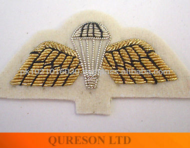 Parachute wing gold wire military patch