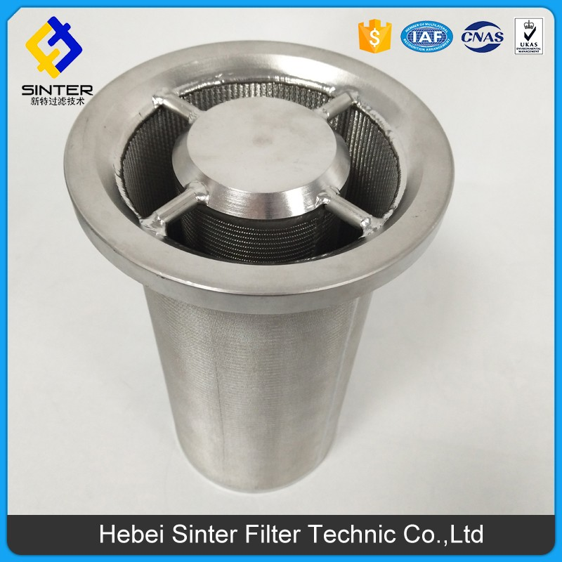 SS multi layer sintered mesh gas cyliner filter cylindrical catcher filter cartridges