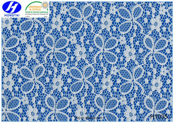 Hongtai 2016 fashion style Nigeria guipure embroidery lace