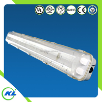 Hot sale IP65 t8t10 2tubes tri-proof led waterproof fluorescent light fixture