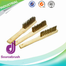 Custom Remove Rust Curved Handle Steel Wire Brush For Industry Polishing