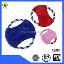 <strong>Pet</strong> cotton rope frisbee for <strong>training</strong>,cotton and nylon frisbee shape <strong>pet</strong> toy