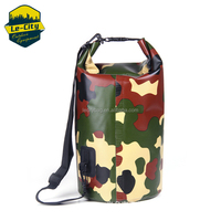 outdoor roll top 500D PVC camouflage waterproof military back pack for floating rafting
