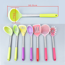 Silicone Large Soup Ladle with Stainless Steel handle Kitchen Tool