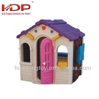 New design cheap wooden kids garden plastic playhouse