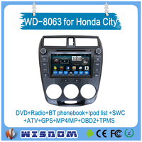 touch screen special car dvd for honda city japan radio player with bluetooth speaker wifi CE can bus gps port multi-language