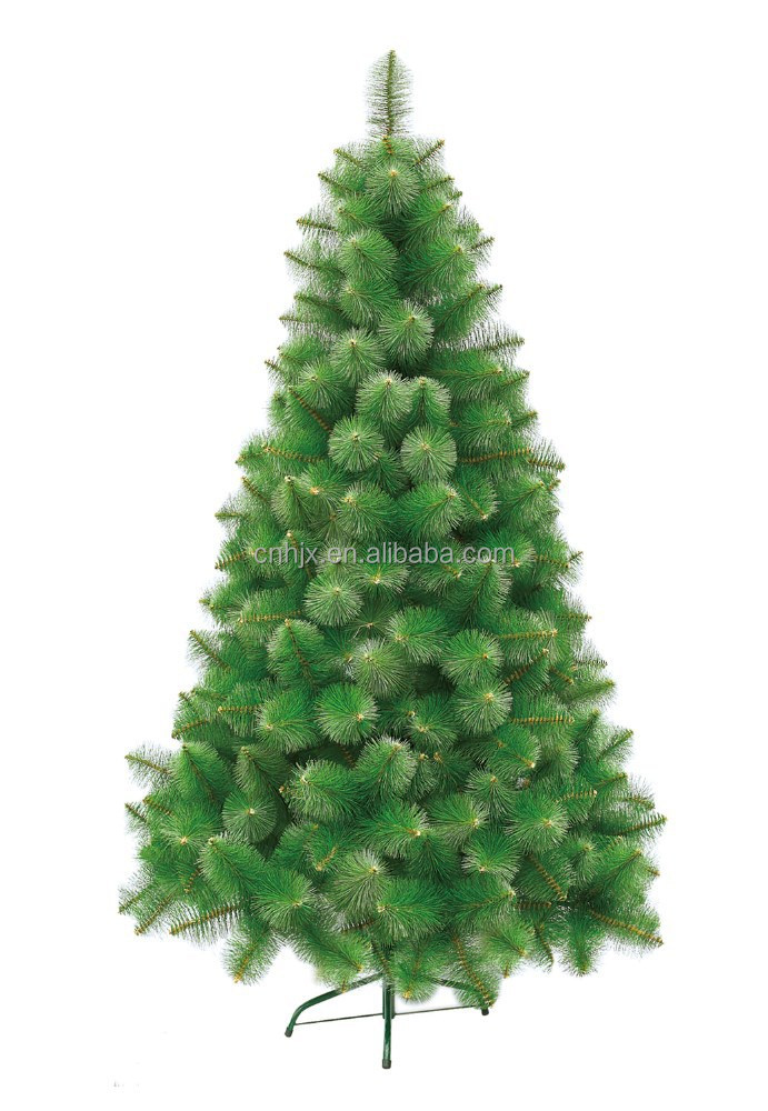 Nature Fir Artificial PVC Mixed Christmas Tree, 6ft Green Pine Christmas Tree Metal