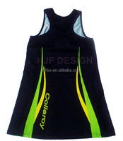 Wholesale sublimated custom cheap netball uniforms dress