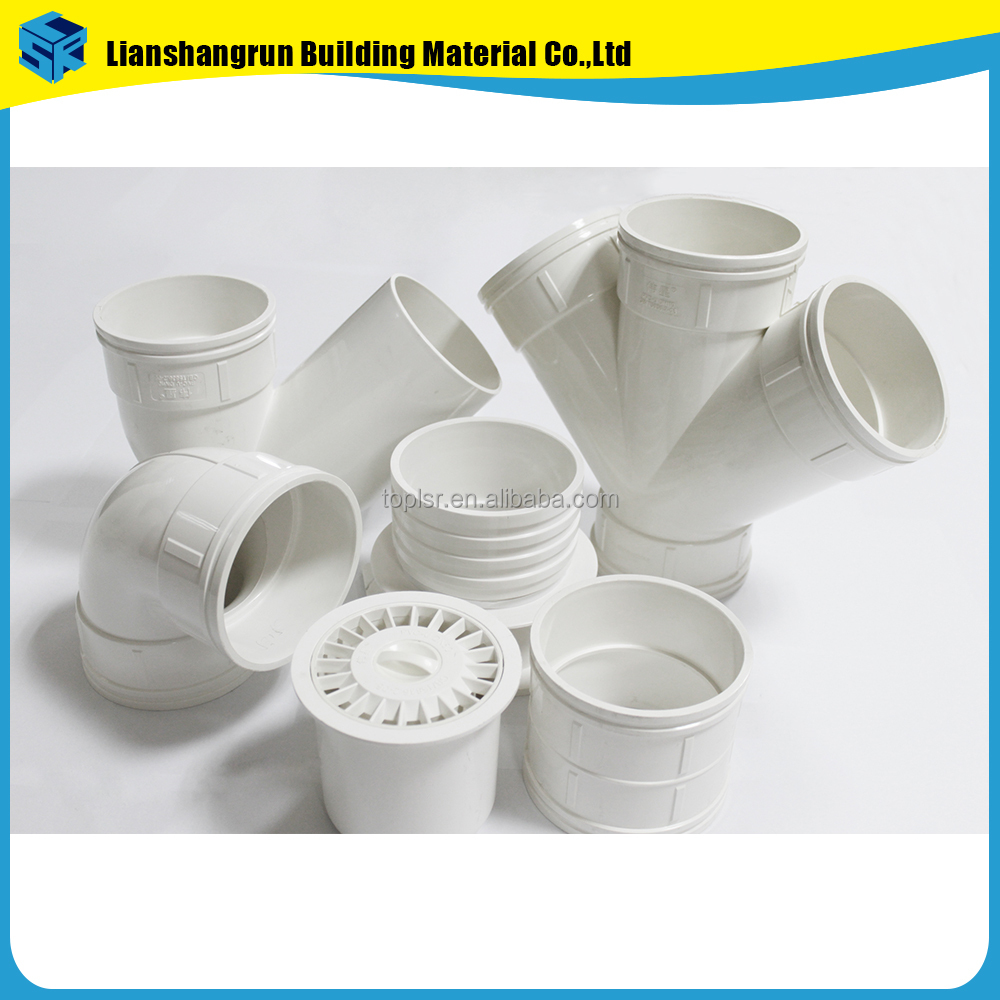 all types of plumbing materials plastic pvc pipe fittings