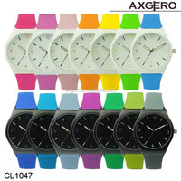 Axgero hot sale design your own logo rubber wholesale china watch