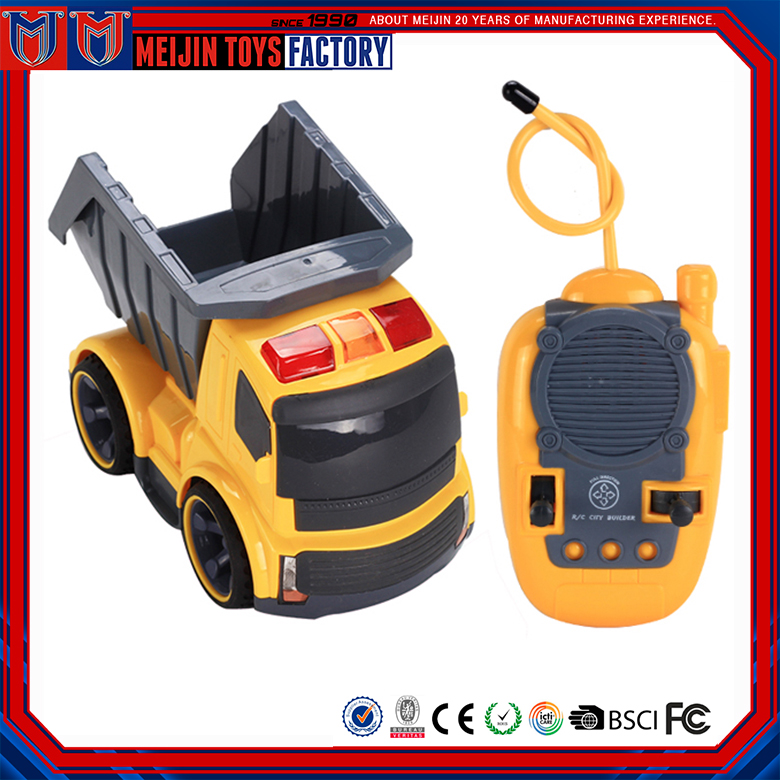 Factory customized 4 ch kids puzzle battery operated rc truck toy