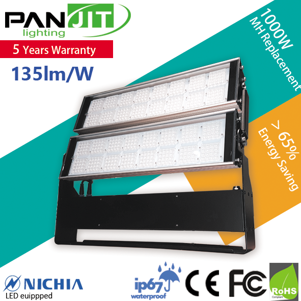 IP67 Dimmable 400W LED Floodlight with Nichia LED