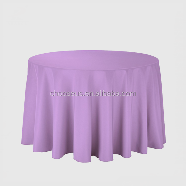 "Cheap 90"" Polyester Round Table Cloth for Wedding Event"