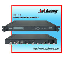 DVB-C Multiplexer QAM Modulator (2 ASI IN and RF OUT)