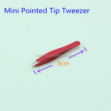Red Stainless Steel Pointed Tip Mini Tweezer