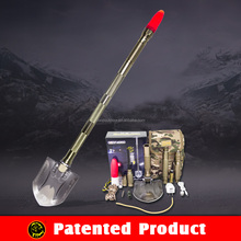 2015 Top Brand Self Defense Tools/Multi-Shovel Hammer Hoe Knife Saw Screwdriver Torch/Multifunctional Survival Kits