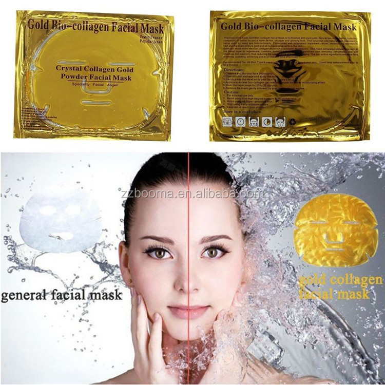 Pur Collagène Cristal masque facial/masque facial en or 24 k/or bio-collagène masque facial